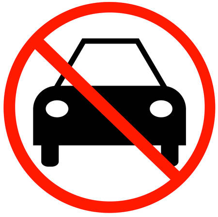 car with not allowed symbol - no cars allowed