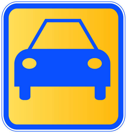 sign or icon for an automobile or a car