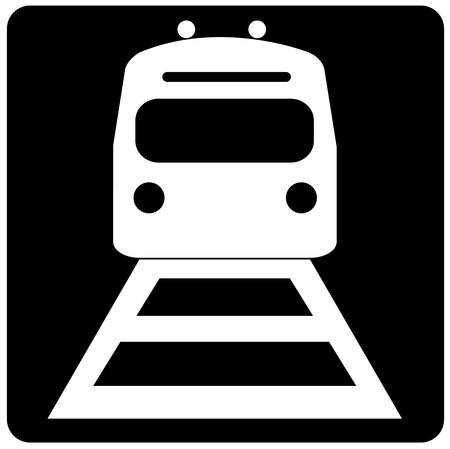 black and white illustration of the front of a train Illustration