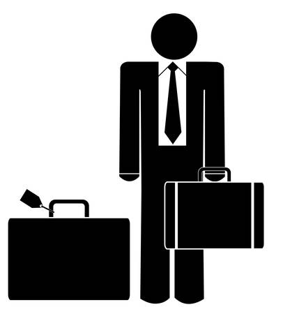 business man with briefcase and luggage Stok Fotoğraf - 3489963