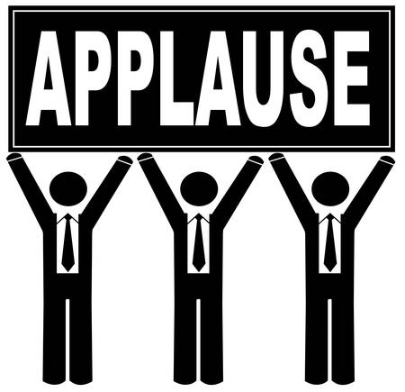 gruppo di uomini in possesso di segno che dice applausi