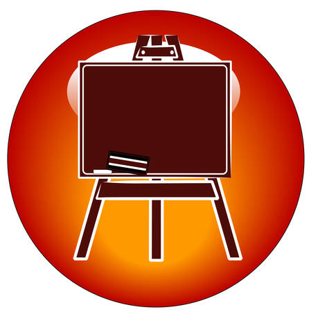 chalkboard on an easel icon or button