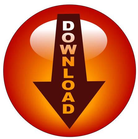 downloaden van de rode pijl web knop of pictogram