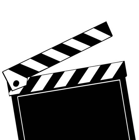 Opened movie clapboard used by movie directors