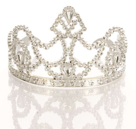 crown or tiara isolated on a white background with reflection  Stock fotó