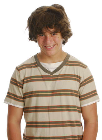 teen boy isolated on a white background
