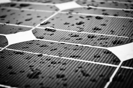 Wet Solar Panel Closeup