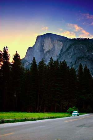 possibly: Half Dome is a granite dome at the eastern end of Yosemite Valley, possibly the Valleys most familiar sight. The granite crest rises more than 4,737 feet (1,440 m) above the Valley floor
