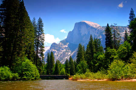 bridalveil fall: The Yosemite Valley in Yosemite National Park, California