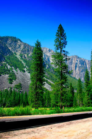 The Yosemite Valley in Yosemite National Park, California photo