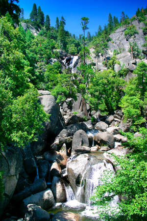 Cascade Falls, Yosemite National park Stock Photo - 614103