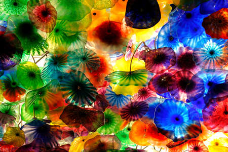 A breathtaking display of 2,000 hand-blown glass flowers - the Fiori di Como, created by world-renowned artist, Dale Chihuly   photo