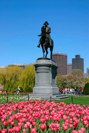 View of Boston Public Garden in spring   photo