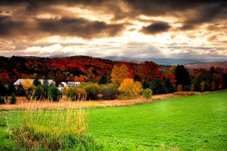 Fall foliage at Vermont, USA  Stock Photo - 614730