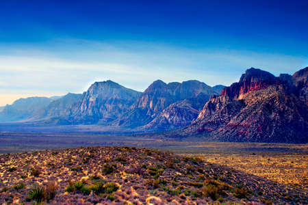 The Red Rock Canyon National Conservation Area is located just a few miles west of Las Vegas and encompasses 197,000 acres within the Mojave Desert.� Red Rock is an� area of world wide geologic interest and beauty.�The most significant geologic feature of Stock Photo - 622466