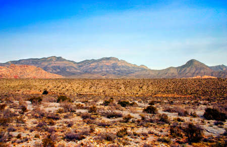 The Red Rock Canyon National Conservation Area is located just a few miles west of Las Vegas and encompasses 197,000 acres within the Mojave Desert.� Red Rock is an� area of world wide geologic interest and beauty.�The most significant geologic feature of Stock Photo - 622657
