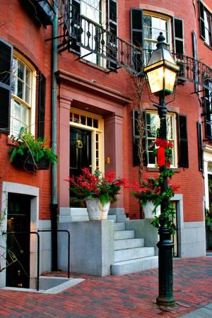 house gables: Beacon Hill es una fascinante, a principios del siglo 19 barrio con calles estrechas. La fila de las casas est�n casi todos en el ladrillo en Federal, estilos victoriano y georgiano. Este Distrito Hist�rico Nacional es excepcionalmente bien conservada, con buen mantenimiento de vivienda