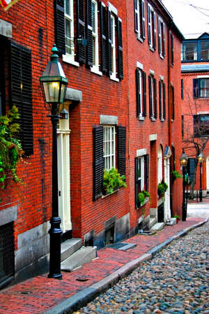 congregational: Beacon Hill is a fascinating, early 19th century neighborhood with narrow streets. The row houses are nearly all in brick in Federal, Victorian and Georgian styles. This National Historic District is exceptionally well-preserved, with well maintained hous