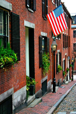 Beacon Hill is a fascinating, early 19th century neighborhood with narrow streets. The row houses are nearly all in brick in Federal, Victorian and Georgian styles. This National Historic District is exceptionally well-preserved, with well maintained hous photo