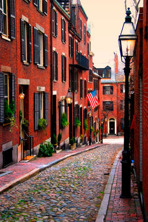 Beacon Hill is a fascinating, early 19th century neighborhood with narrow streets. The row houses are nearly all in brick in Federal, Victorian and Georgian styles. This National Historic District is exceptionally well-preserved, with well maintained hous