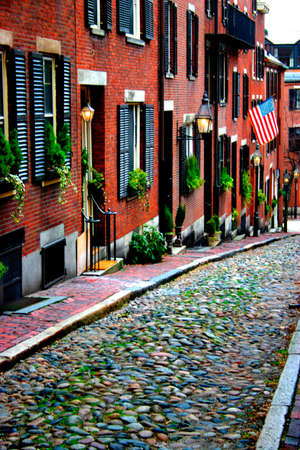 historic district: Beacon Hill is a fascinating, early 19th century neighborhood with narrow streets. The row houses are nearly all in brick in Federal, Victorian and Georgian styles. This National Historic District is exceptionally well-preserved, with well maintained hous