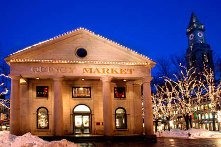 Its the seat of American history and the site of one of Americas most famous shopping and dining experiences - Faneuil Hall Marketplace.  For over 250 years, the marketplace has played an integral role in the life of Bostons residents.    photo