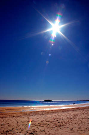 be or not to be: Singing Beach gets its name from the sand that sings when you walk on it. Actually, reports say that its more of a squeak than a melody, but you get the point. Conditions must be right for this phenomena to occur; not too wet, not too dry, etc. There Stock Photo