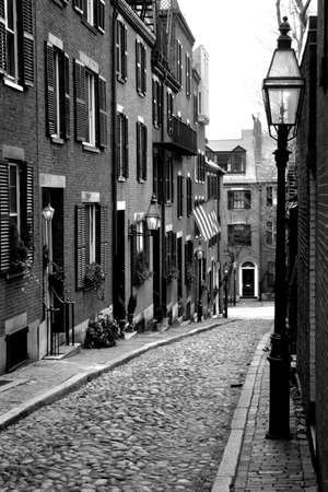 enclave: Beacon Hill is a fascinating, early 19th century neighborhood with narrow streets. The row houses are nearly all in brick in Federal, Victorian and Georgian styles. This National Historic District is exceptionally well-preserved, with well maintained hous
