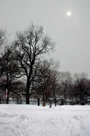 Winter blizzard in Boston Stock Photo - 622409