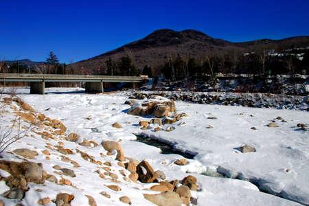 Winter scene in New England, USA   photo