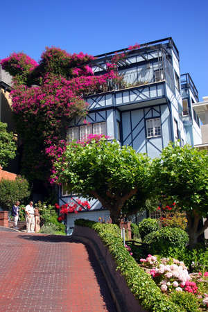 View of Lombard Street, the crookedest street in the world, San Francisco, California Stock Photo - 623951