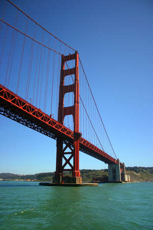The Golden Gate Bridge was the largest suspension bridge in the world when it was completed in 1937 and has become an internationally recognized symbol of San Francisco. It is currently the second longest suspension bridge in the United States after the V Stock Photo - 623910