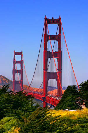 The Golden Gate Bridge at San Francisco, California   Stock Photo