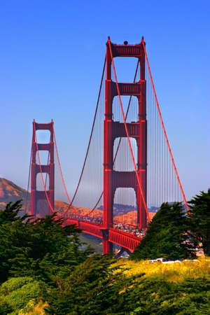 The Golden Gate Bridge at San Francisco, California   Stock Photo