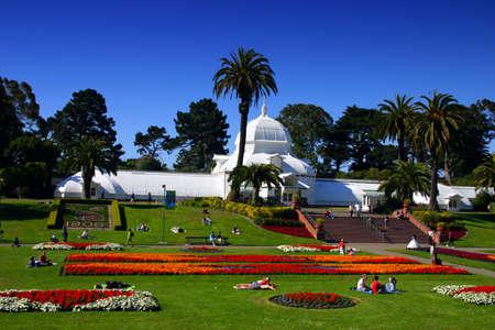 wintergarten: Conservatory of Flowers in der Golden Gate Park in San Francisco, Kalifornien