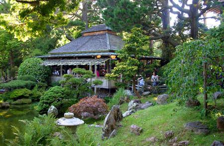 Jardin de th� japonais au Golden Gate Park, San Francisco, Californie