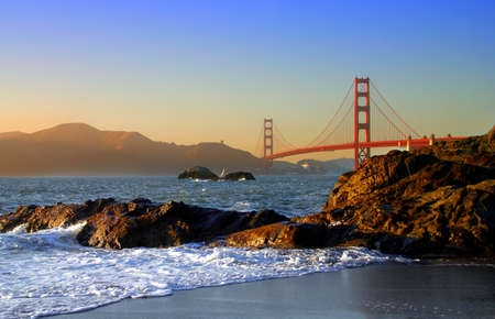 Baker Beach is a state and national public beach on the Pacific Ocean coast, on the San Francisco peninsula   photo