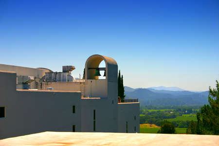 cabarnet: Sterling Vineyards is a beautiful Mykonos-style building on top of a hill overlooking the valley.   Stock Photo