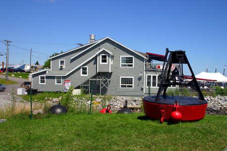 buoyant: Rockland, Maine   Stock Photo