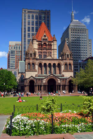 Copley Square, Boston   Stock Photo