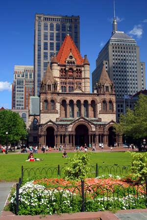 Copley Square, Boston   Stock Photo