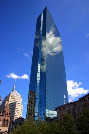 john hancock: Copley Square, Boston   Stock Photo