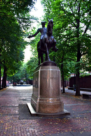 north   end: Paul Revere Statue, North End, Boston