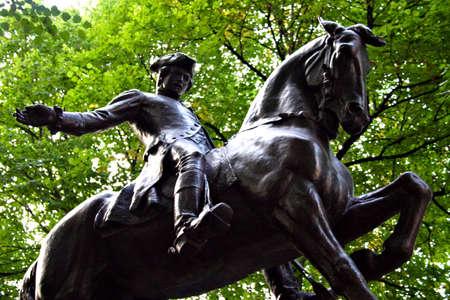 Paul Revere Statue, North End, Boston   photo