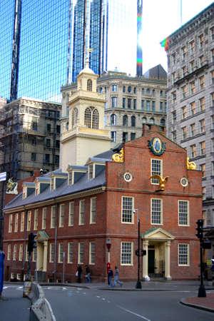 The Old State House, le plus ancien b�timent public de Boston, a �t� construit en 1713 pour abriter les bureaux du gouvernement de la Massachusetts Bay Colony.