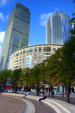 prudential: The Prudential Tower (229m750ft) at Boston, Massachusetts USA.   Stock Photo