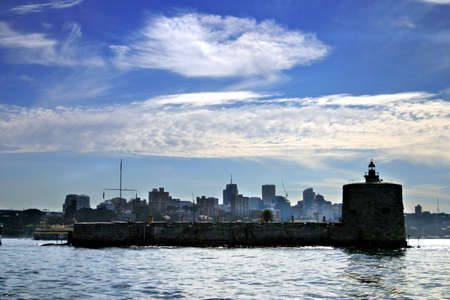 penal: Fort Denison is a former penal site and defensive facility occupying a small island located north of the Royal Botanical Gardens in Sydney Harbour, New South Wales, Australia