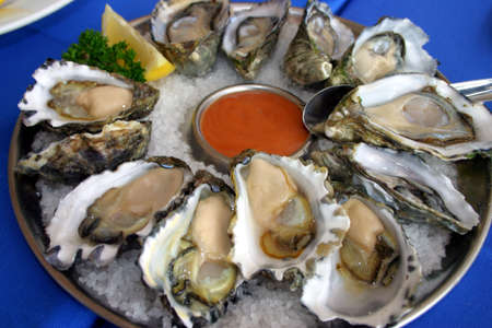Frais et d�licieux repas de fruits de mer, � Watson Bay, NSW, Australie