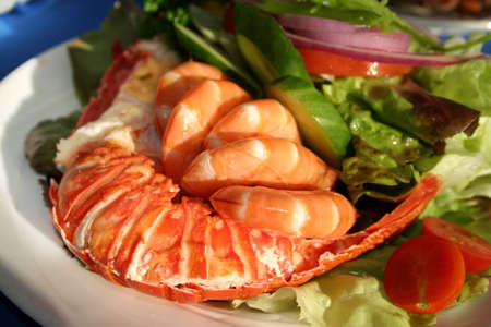 Fruits de mer frais et d�licieux repas � Watson Bay, NSW, Australie  Banque d'images