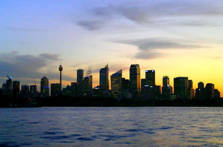A view of Sydneys skyline and Sydney Harbour photo